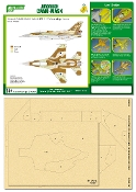 Airbrush CAMO-MASK for 1/48 IDF F-16D Camouflage Scheme