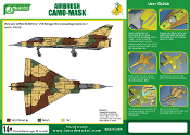 1/48 Airbrush CAMO-MASK for 1/48 Mirage IIIC Camouflage Scheme 1