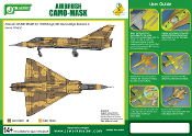 1/48 Airbrush CAMO-MASK for 1/48 Mirage IIIC Camouflage Scheme 2