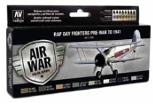 17ml Bottle RAF Day Fighter Pre-War to 1941 Model Air Paint Set (8 Colors)
