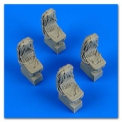 1/48 Ka27 Helix Seats w/Safety Belts (4) for HBO