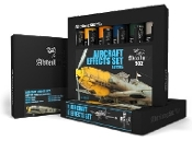 Aircraft Effects Weathering Oil Paint Set (6 Colors) 20ml Tubes
