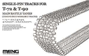 SINGLE-PIN TRACKS FOR T-72 & T-90 MAIN BATTLE TANKS 1/35
