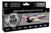 Imperial Japanese Army Colors Pre-War to 1945 Model Air Paint Set (8 Colors)