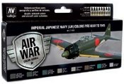 Imperial Japanese Navy Colors Pre-War to 1945 Model Air Paint Set (8 Colors)