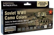 Soviet Vehicles WWII Camo Colors Model Air Paint Set (8 Colors)