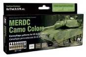 US Army Vehicles MERDC Camo Colors Model Air Paint Set (8 Colors)