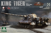WWII German King Tiger SdKfz 182 Pzbt505 Henschel Turret Heavy Tank w/Zimmerit & Interior (Special Edition)