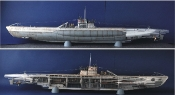 German DKM Type VIIC U552 U-Boat w/48 Figures