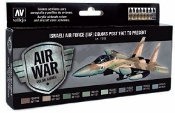 Israeli Air Force Post 1967 to Present Model Air Paint Set (8 Colors)