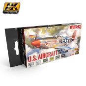 US Aircraft Metal Skin Colors Acrylic Paint Set (6 Colors) 17ml Bottles