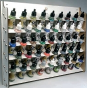Wall Mounted Module Paint Display (Holds 43 17ml Bottles)