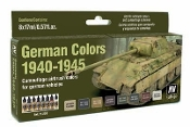 17ml Bottle German Vehicle Camouflage Colors 1940-1945 Model Air Paint Set (8 Colors)