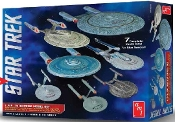 Star Trek USS Enterprise Set: NX01, NCC1701, NCC1701 Refit, NCC1701B/C/D/E (7 Snap Kits)