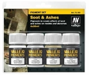 35ml Bottle Soot & Ashes Pigment Powder Set (4 Colors)