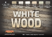 White Wood Diorama Acrylic Set (6 22ml Bottles)