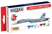 Red Line (Airbrush-Dedicated): Ultimate Su33 Flanker-D Russian Naval Aviation Service Paint Set (6 Colors) 17ml Bottles