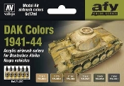 17ml Bottle DAK Vehicle Colors 1941-1944 Model Air Paint Set (6 Colors)