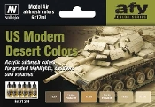 17ml Bottle US Modern Desert Colors Model Air Paint Set (6 Colors)