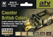 17ml Bottle British Caunter (Camo) Colors 1940-1941 Model Air Paint Set (6 Colors)