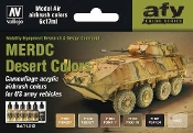 17ml Bottle US Army Vehicles MERDC Desert Colors Model Air Paint Set (6 Colors)