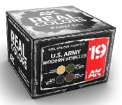 Real Colors: US Army Modern Vehicle Acrylic Lacquer Paint Set (4) 10ml Bottles