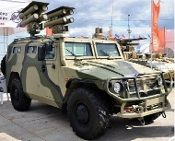 Russian GAZ233014 Armored Vehicle w/AT Missile System Kornet-D