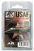 Air Series: USAF European Camo Acrylic Paint Set (4 Colors) 17ml Bottles