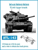 1/35 M48/60/88 T142 Type Track Set (170 Links)