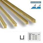 Brass C Channel 1 x 1.5 x 1 mm CC1
