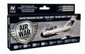 AIR WAR COLOR SERIES SOVIET/RUSSIAN COLORS COLD WAR SILVER DARTS 1950-1980