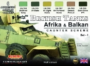 British WWII Tanks Afrika & Balkan Caunter Scheme #1 Acrylic Set (6 22ml Bottles)