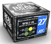 Real Colors: WWII US Aircraft Interior Acrylic Lacquer Paint Set (4) 10ml Bottles