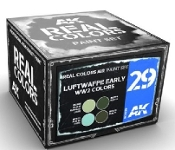 Real Colors: Luftwaffe Early WWII Acrylic Lacquer Paint Set (4) 10ml Bottles