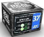 Real Colors: WWII IJN Aircraft Acrylic Lacquer Paint Set (4) 10ml Bottles