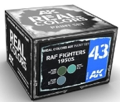 Real Colors: RAF Fighters 1950s Acrylic Lacquer Paint Set (3) 10ml Bottles