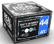 Real Colors: RAF V-Bomber 1960s Acrylic Lacquer Paint Set (3) 10ml Bottles