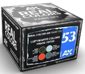 Real Colors: Luftwaffe 1960s-1970s Acrylic Lacquer Paint Set (4) 10ml Bottles
