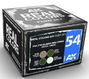 Real Colors: FAA (Falklands/Malvinas) 1970s-1990s Acrylic Lacquer Paint Set (4) 10ml Bottles