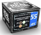 Real Colors: FAE (Lagarto Camo) AF Acrylic Lacquer Paint Set (4) 10ml Bottles