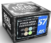 Real Colors: Forca Aerea Portuguesa I Wrap-Around 1990s Acrylic Lacquer Paint Set (4) 10ml Bottles