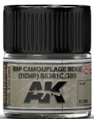Real Colors: RAF Camouflage Beige (Hemp) BS381C/689 Acrylic Lacquer Paint 10ml Bottle