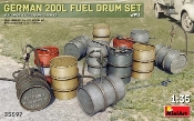 WWII German 200L Fuel Drum Set (12)