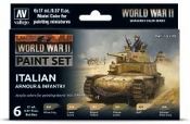 17ml Bottle Italian Armour & Infantry WWII Wargames Paint Set (6 Colors)