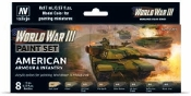 17ml Bottle American Armour & Infantry WWIII Wargames Paint Set (8 Colors)