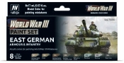 17ml Bottle East German Armour & Infantry WWIII Wargames Paint Set (8 Colors)