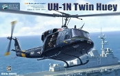UH1N Twin Huey Helicopter w/3 Figures