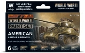 17ml Bottle WWII American Armour & Infantry Wargames Paint Set (6 Colors)