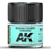 Real Colors: Russian Cockpit Turquoise Acrylic Lacquer Paint 10ml Bottle