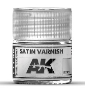 Real Colors: Satin Acrylic Lacquer Varnish 10ml Bottle